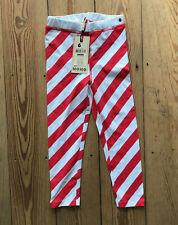 SALE NoNo Leggings Lolipop weiß rot Mädchen Gr.4Y, 6Y,12Y NEU