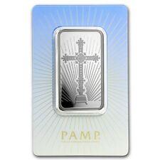 Lingot Suisse PAMP 1 Once argent pur 999 / ROMANESQUE CROSS 1 Oz Fine Silver Bar