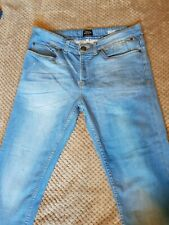 Womens River Island blue stretch skinny jeans slim fit size - W32 L30A