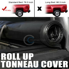 "ROLL-UP SOFT VINYL TONNEAU COVER FITS 09-18 DODGE RAM 6.4 FT 76.8"" TRUCK BED"