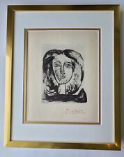 PABLO PICASSO 1947 SIGNED PRINT MATTED TO BE FRAMED 11 X 14IN. + LIST  $795