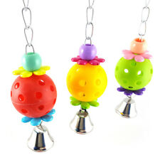 LK_ Colorful Pet Bird Parrot Bite Chew Ball Cage Hanging Cockatiel Birds Toy _GG