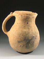 ANCIENT HOLY LAND TERRA-COTTA JUG; LATE BRONZE AGE PERIOD, 1200 - 1000 B.C.
