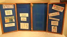 """Oak Folding 4 Panel Presentation Board Felt 37"""" X 20"""" X 4"""" Folded 37 X 73 Open"""