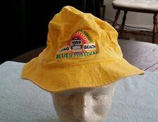 1999 Long Beach CA Blues Festival Hat Large Yellow Adams Bucket Fishing