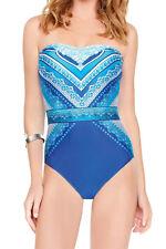 GOTTEX BLUE JASMINE A Fascia One Piece Costume Da Bagno Nuovo Con Etichetta