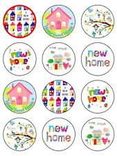 "12 x New Home / House Warming Mix 2"" PRE-CUT PREMIUM  RICE PAPER Cake Toppers"