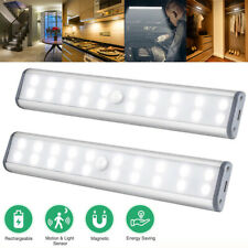40cm Wireless Portable Closet Light 60LED Rechargeable Night Light Magnetic Lamp