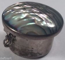 Vintage Mexico Abalone Sterling Silver Box