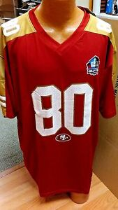 NFL HALL OF FAME 49ERS #80 JERRY RICE JERSEY MAJESTIC MULTIPLE SIZES NEW NWT