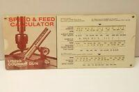 VTG Vortec Corporation 606 Cold Air Gun Speed & Feed Calculator Chart Slide Rule