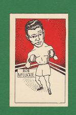 D.  CUMMINGS  &  SON  -  SCARCE  BOXER  CARD  -  BOB  McLUCKIE  -  1949