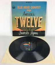 The Blue Ridge Quartet Sings American's 12 Favorite Hymns, Vinyl LP Record