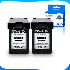 2PK 63-XL Black F6U64AN 63XL Ink Cartridge For HP Deskjet 2132 2133 2134 3630