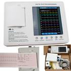 Digital 12-lead 3-channel Electrocardiograph ECG EKG Machine+interpretation FDA