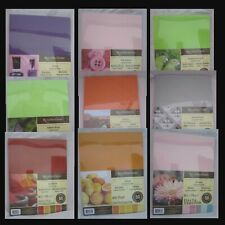 "RECOLLECTIONS CARDSTOCK  Paper 8 1/2"" x 11"" 50 Sheets 65 lb 5 COLOR PACK U PICK"