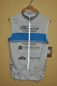 NWT CANARI White Unisex Wind Cycling Vest Size: MD Made in USA