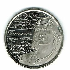 2012 Canadian Brilliant Uncirculated Commemorative Tecumseh 25 Cent Coin!