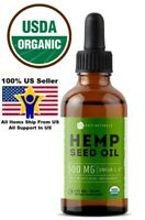 Organic Hemp Seed Oil Drops Anti Pain Relief Inflammatory Joint Support Non-GMO