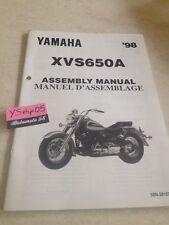 Yamaha XVS650A 98 XVS650 A XVS 650 setup manuel assemblage préparation
