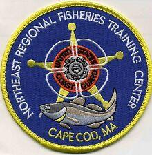 "USCG Coast Guard Patch N.E Fisheries Training Ctr. Reg 4.5/"" round fire"