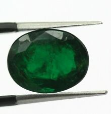 4.74 Ct Natural Emerald Dark Bottle Green Color Loose No Black Sport Zambia Oval