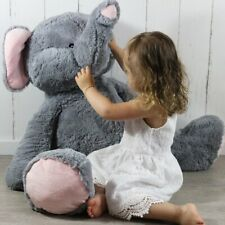 "40"" Jumbo Soft Plush Elephant Super Cuddly Toy Stuffed Giant Pillow Cute Teddy"