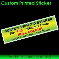 Custom Printed Bumper Sticker Decal x 100 300x75mm  - CP00027