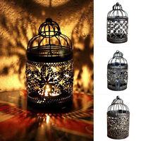 FP- Vintage Hollow Candle Holder Candlestick Lantern Hanging Table Home Decor Gr