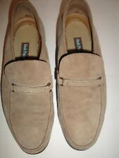 HUSH PUPPIES COMFORT FLEX BEIGE SUEDE LEATHER MENS SHOE SIZE 8.5 M
