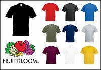 Fruit of the Loom Men's Plain Heavy 100% Cotton Blank T-Shirt *(M-5XL**