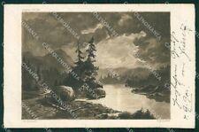 Landscape Eneret Mignon 105 postcard cartolina QT6002
