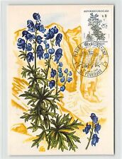 FRANCE MK 1983 FLORA BLUMEN ACONIT MAXIMUMKARTE CARTE MAXIMUM CARD MC CM d9716