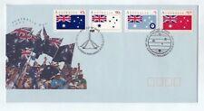 1991 Australia Day Flags Set Of 4 Fdc