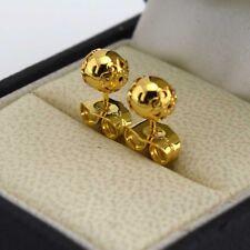 6mm Bead Stud Gf Fashion Jewelry 24k Yellow Gold Filled Earrings Charming Flower