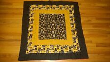 "RARE BOSTON  ""BRUINS""  COTTON/FLEECE TWOSIDED  BLANKET 44"" X 44"" NHL"