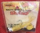 Vintage Bagley's 3 Inch 1/2 Oz Yellow Salty Dog Shrimp Lure NIP