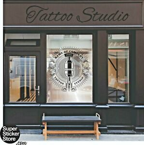 Tattoo Salon Shop Window Stickers Signs Wall Decal Traditional Modern New Style.