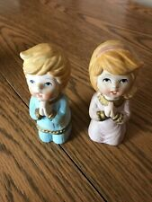 Homco Home Interiors #5211 BedTime Praying Children Boy & Girl Vintage Figurines