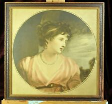 "Hand colored stone lithograph ""Jane Elizabeth Scott, Countess of Oxford"" 1800's"