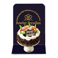 Reutter Porzellan Birthday Cake / Birthday Cake Dollhouse Dollhouse 1:12