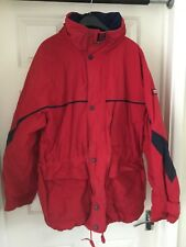 """mens jacket/coat Maine New England red/blue Large 42-44"""" chest"""