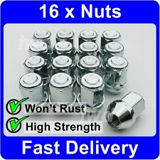 16 x ALLOY WHEEL NUTS FOR SUBARU (M12x1.25) TAPERED SEAT 19MM HEX LUG BOLTS [U1]
