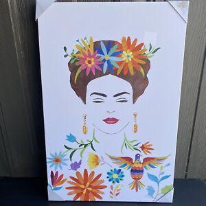 "Frida Kahlo Self Portrait 24""x36"" Painting Print On Canvas Nice Wall Art New"