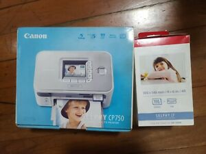 CANON SELPHY CP750 PHOTO PRINTER AND KP-108 INK & PAPER BUNDLE