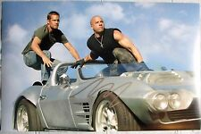 VIN DIESEL SIGNED 11x17 PHOTO DC/COA FAST FURIOUS 7 (PROOF) WITH PAUL WALKER