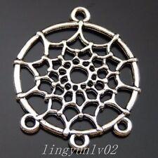 50033 Antique Silve Alloy Cobweb Pendant Charms 24pcs
