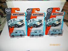 3 2016 MATCHBOX  1955 FORD F-100 DELIVERY TRUCK (BLUE) FREE U.S SHIPPING