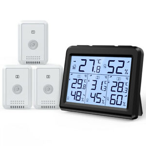 Digital LCD Thermometer Hygrometer Home Outdoor Temperature Humidity(1/3 Sensor)