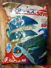 "SpaceSaver Premium Reusable Vacuum Storage Bags Hand Pump 6 jumbo 40"" x 30"""